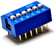 6 Position DIP Switch 2.54mm
