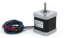 NEMA 17 STEPPER MOTOR, 48MM, HD48002_22B, Silver Black