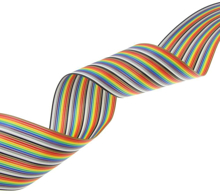 Picture of 10 Pin Color Rainbow Ribbon Wire Cable Flat 1.27mm Pitch (1m)