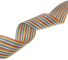 Picture of 20 Pin Color Rainbow Ribbon Wire Cable Flat 1.27mm Pitch (1m)