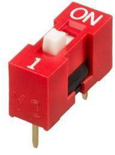 Slide Type Switch Module 1-Bit 2.54mm 1 Position Way DIP Red Pitch