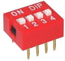 Picture of 4 Position DIP Switch 2.54mm
