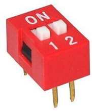 Slide Type Switch Module 2.54mm 2 Position Way DIP Red Pitch
