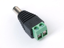 Screw Terminal Block To Male DC Power Adapter - 2.1mm Plug Top