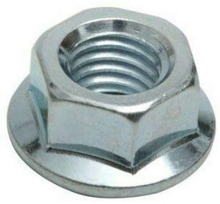 M6 Steel Hex Flange Nuts - Pack 50