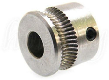 Picture of MK7 Stainless Steel Extruder Drive Gear Hobbed Gear For Reprap 3D Printer 5mm