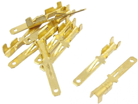 Terminals Wiring Connectors (Male), 2.8mm - Gold - Pack 50