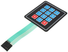 Picture of Keypad Membrane Sealed 4X3 Button for Arduino AVR PIC