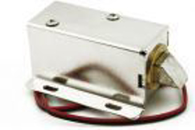 Picture of 12-volt electronic lock to control automatic door opening