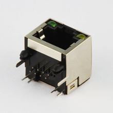 RJ45 - 8pin on PCB - Metal & LED