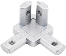 INDUSTRIAL ALUMINUM PROFILE 3030 EUROPEAN STANDARD THREE-DIMENSIONAL ANGLE CORNER CONNECTOR Front