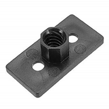 T8 8mm Lead 2mm Pitch T Thread POM Black Plastic Nut Plate For 3D Printer