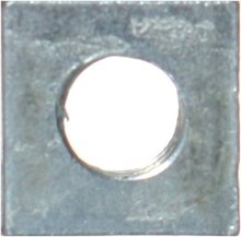Iron Square Nuts 4mm - Pack 50
