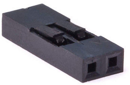Picture of PH-14 (2 Pin 0.100 inch Header Crimp Connector Housing-Single Row) (Pack Of 50)