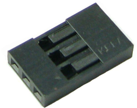Picture of PH-15 (3 Pin 0.100 inch Header Crimp Connector Housing-Single Row) (Pack Of 50)