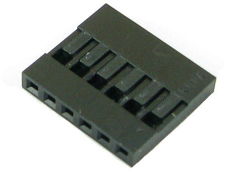 "Picture of PH-18 (6 Pin 0.100"" Header Crimp Connector Housing-Single Row)"