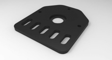 Picture of Threaded Rod Plate For Nema 17 Stepper Motor (Steel)