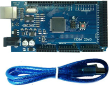 Picture of Arduino Mega 2560 Compatible Base on ATMEGA2560 MCU + USB Cable