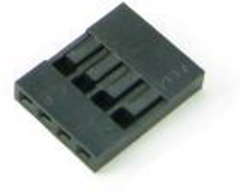 Picture of PH-16 (4 Pin 0.100 inch Header Crimp Connector Housing-Single Row) (Pack Of 25)
