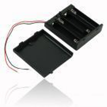 4 x AAA Battery Holder + On/Off Switch Front