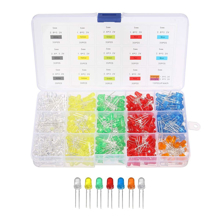 Pack of Mixed Color LED Size 3mm (20 LED) + Storage Box