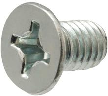 4x8mm Phillips Flat Head Machine Screws - Pack 50