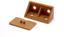 Picture of 10 Plastic Corner Angle Brackets 90 Degree (Brown) With Cover