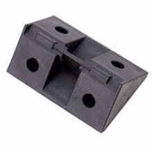 10 Plastic Corner Angle Brackets 90 Degree (Black)