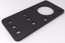 Picture of V-Slot Motor Mount Plate - NEMA 17 Stepper Motor (Acrylic)