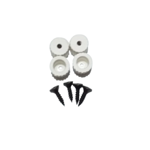 Picture of Plastic White Legs For 3D Printer - 4 PCS