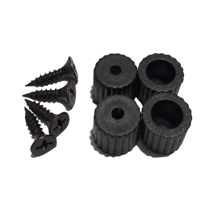 Plastic Black Legs For 3D Printer - 4 PCS