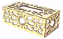Picture of Wooden Tissue Box - Wooden Color
