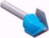 Router Drill Bit D: 24mm H: 24mm Shank: 12 Side