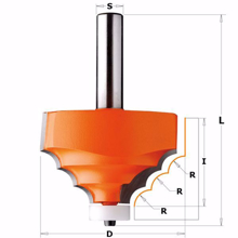 Router Drill Bit D: 38mm H: 18mm Shank: 12