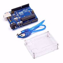 Picture of Arduino UNO R3 Development Board With USB Cable and Acrylic case