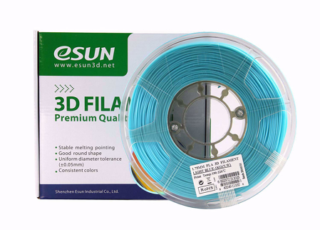 3D PRINTER PLA FILAMENT ESUN -Light Blue- 1.75mm 1KG
