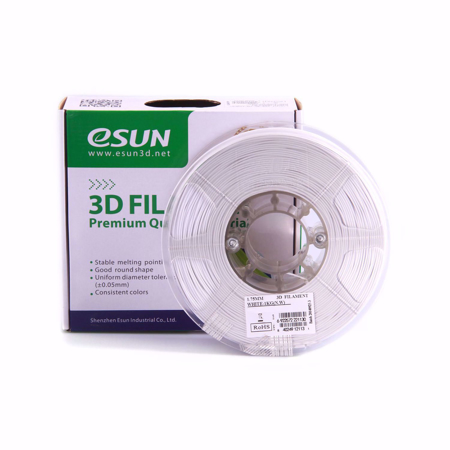ESUN 3D PRINTER PLA FILAMENT -White- 1.75mm 1KG