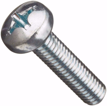 M5x12mm Phillips Steel Machine Screw Pan Head - Pack 50