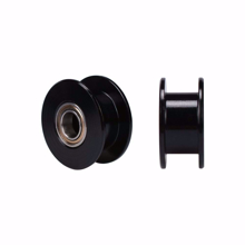 Picture of GT2 3mm Bore Black Aluminum Toothless Timing Belt Idler Pulley