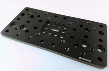 C-Beam Gantry Plate - Double Wide (Aluminum) Open builds Side