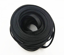 Black Braided Cable Sleeve 2.5CM X 1M
