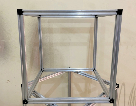 HyperCube 3D Printer Frame Kit 53 x 53 Silver