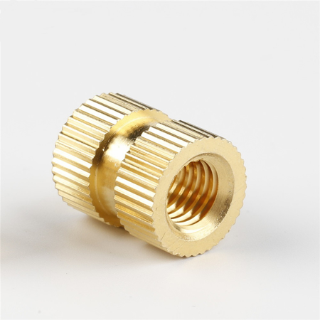 M4*4*5.2 - Brass Cylinder Knurled Round Molded-in Insert Embedded Nuts - pack of (5)