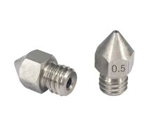 0.6mm MK8 Extruder Nozzle ( Stainless Steel ) Stand & Side
