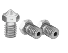 1mm E3D V5&V6 J-head Nozzles ( Stainless Steel ) Stand & Side