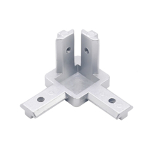 INDUSTRIAL ALUMINUM PROFILE 4040 EUROPEAN STANDARD THREE-DIMENSIONAL ANGLE CORNER CONNECTOR Front