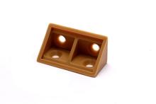 10 Plastic brackets corner 90 Degree (Brown)