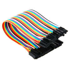 40PCS Jumper Wire Cable 1P-1P 2.54mm 20cm Female to Female For Arduino