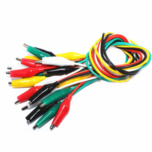 DOUBLE-END ALLIGATOR CLIP WIRE TEST CABLE CROCODILE 30CM 10-PIECE PACK