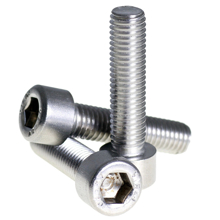 M5x20mm High Tensile Socket Head Screws White - Pack 50